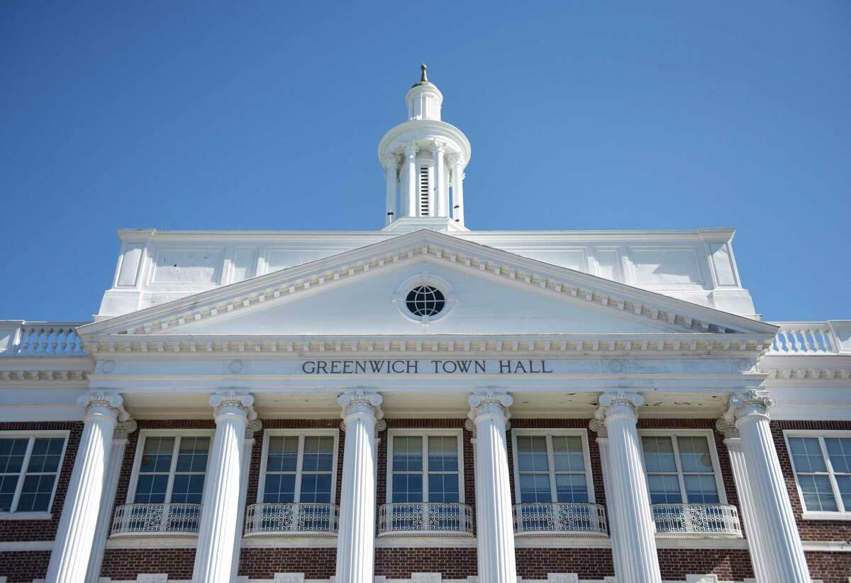 Town Hall in Greenwich, Conn., photographed on Wednesday, March 26, 2019.