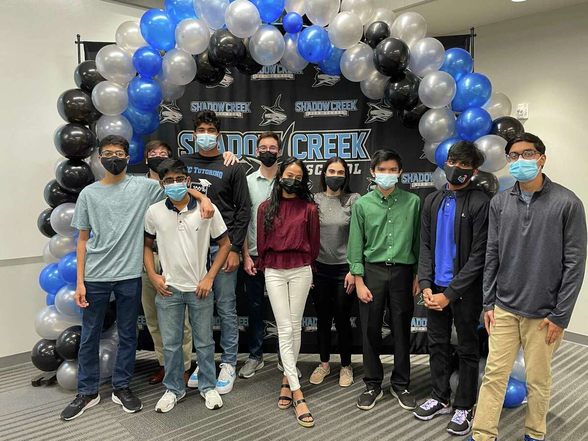 Some top students at Alvin ISD's Shadow Creek High School in Pearland are ready for graduation ceremonies on May 27 at Freedom Field In Iowa Colony.