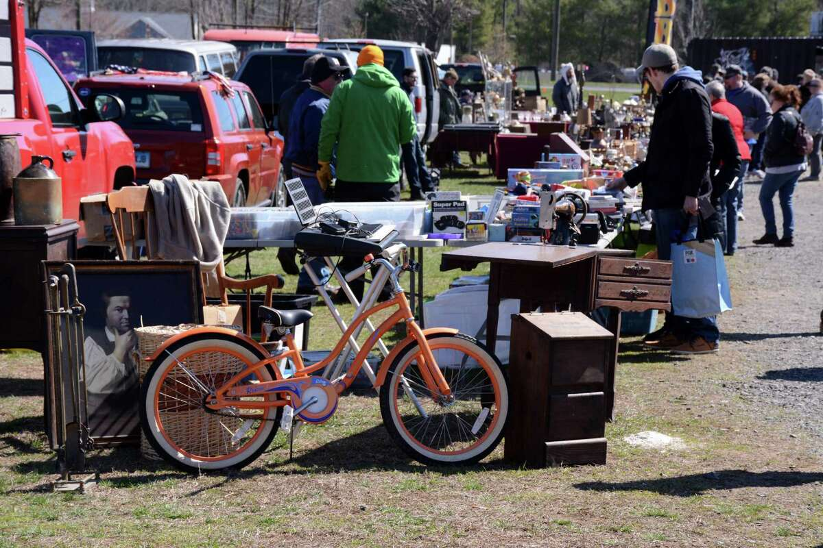 Elephant's Trunk Flea Market Open Sunday 8 a.m. to 2 p.m. for general admission, free admission 2-3:30 p.m. Elephant's Trunk also offers two early bird options that allow shoppers to hit the stalls as early as 5:30 a.m. Located at 490 Danbury Road, New Milford. Info: etflea.com