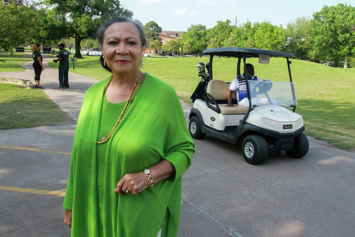 Patricia Hogan Williams of The Imani School at the Lucille's 1913 inaugural golf tournament and dinner at Hermann Park Golf Course in Houston on April 12, 2021.