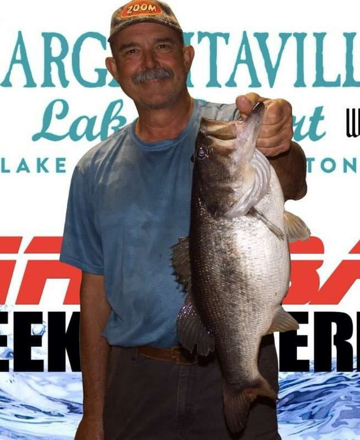 Mickey Mueller came in first place in the CONROEBASS Thursday Big Bass Tournament with a weight of 7.48 pounds.