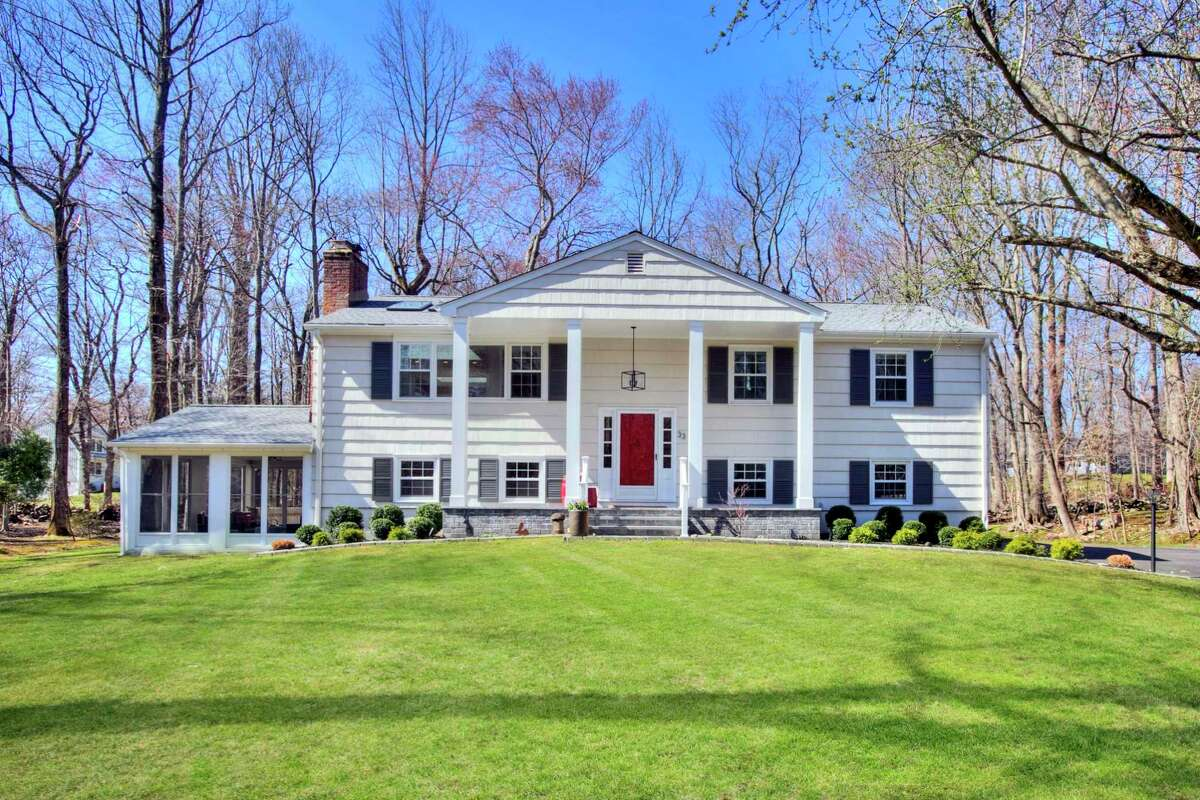 Eight-room raised ranch-style house at 33 Pumpkin Hill Road, Westport.