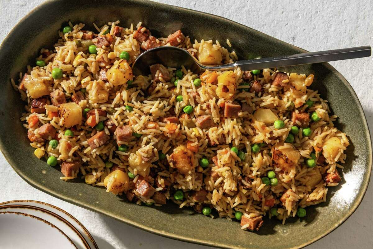 Spam and Pineapple Fried Rice.