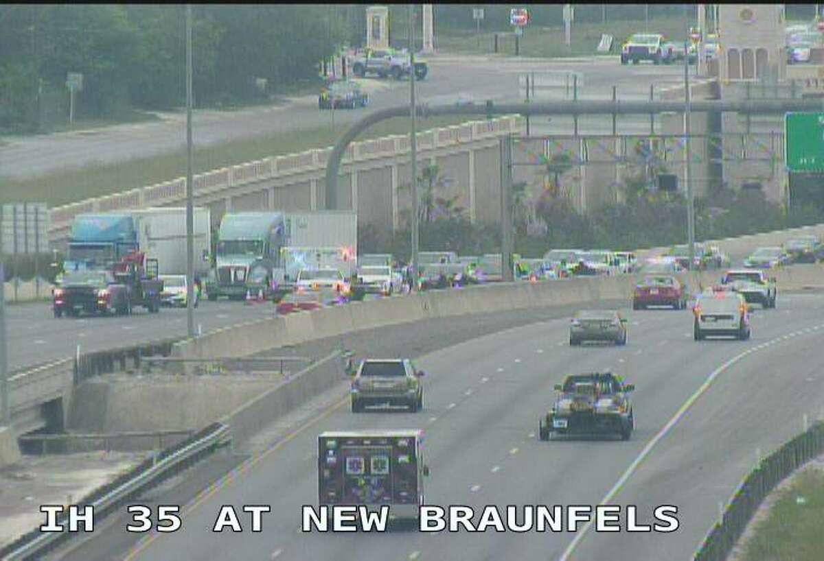 Several lanes are closed on Interstate 35, near New Braunfels Ave., because of a major accident, according to a tweet by the San Antonio Police Department.