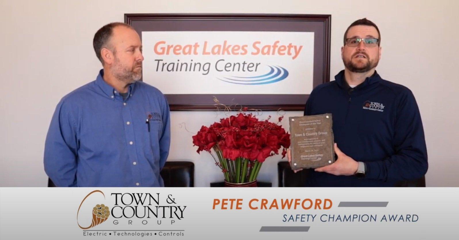 Town & Country Group nombrado Campeón de Seguridad de Pete Crawford 2021