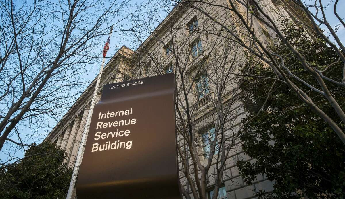 In this April 13, 2014 file photo, the Internal Revenue Service Headquarters (IRS) building is seen in Washington. (AP Photo/J. David Ake, File)