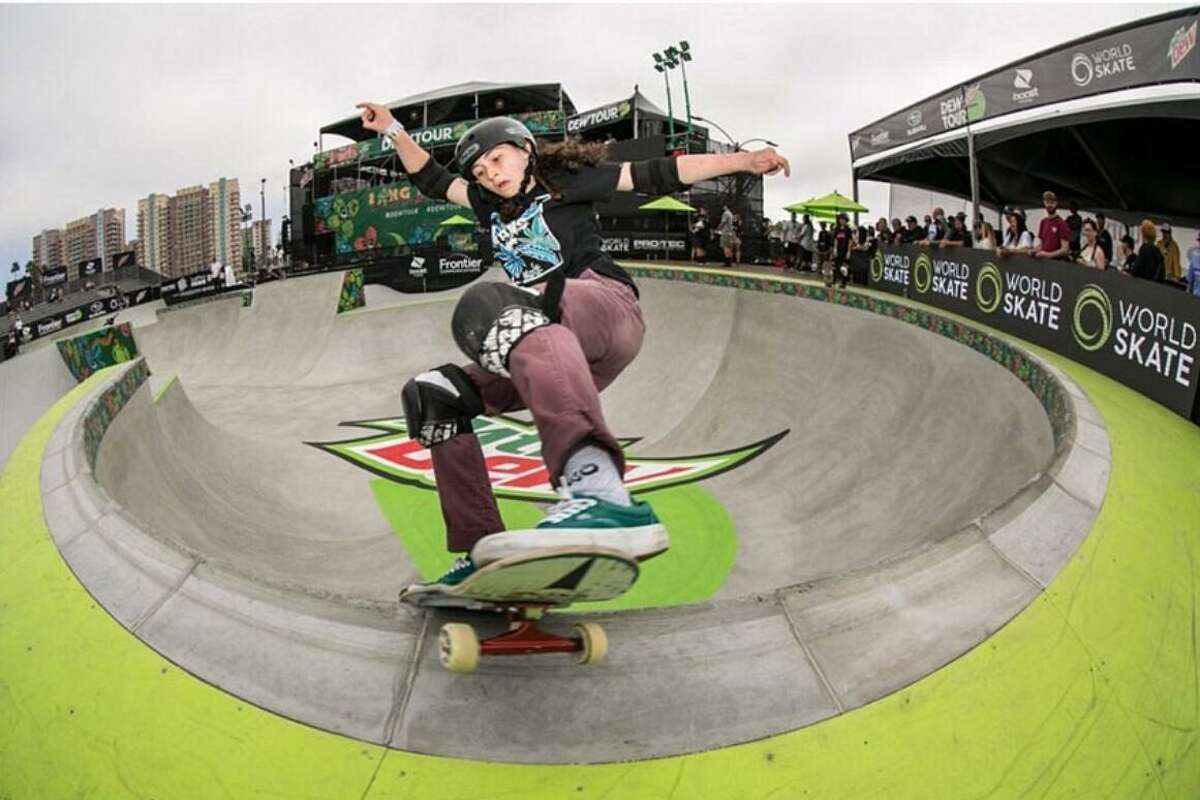 Houston's Jordan Santana is just 17 but hopes to compete in Tokyo this summer with the first U.S. Olympic skateboarding team in the women's park event.