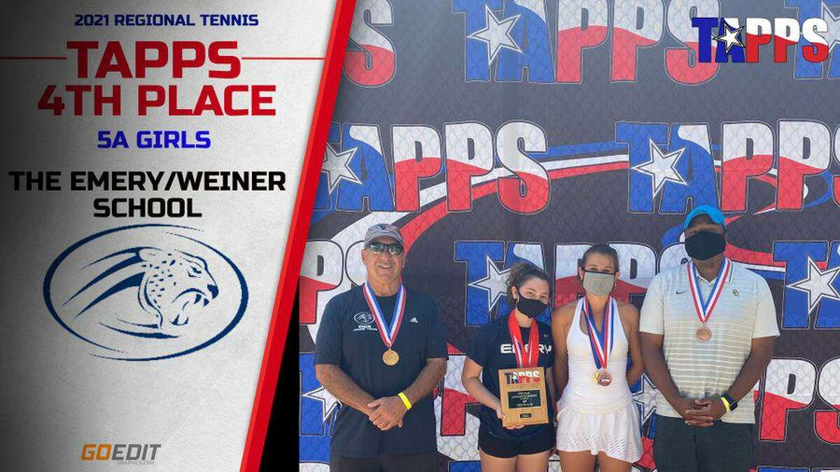 The Emery/Weiner girls tennis team finished fourth in TAPPS 5A at the state tournament, led by state singles champion Misha Berry, April 6-7 at Waco Regional Tennis Center.