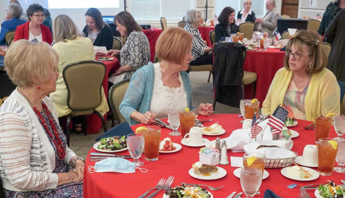 Midland County Republican Women members chat during lunch before TX Attorney General Ken Paxton speaks to the group 04/14/21 at the Midland Country Club. Tim Fischer/Reporter-Telegram