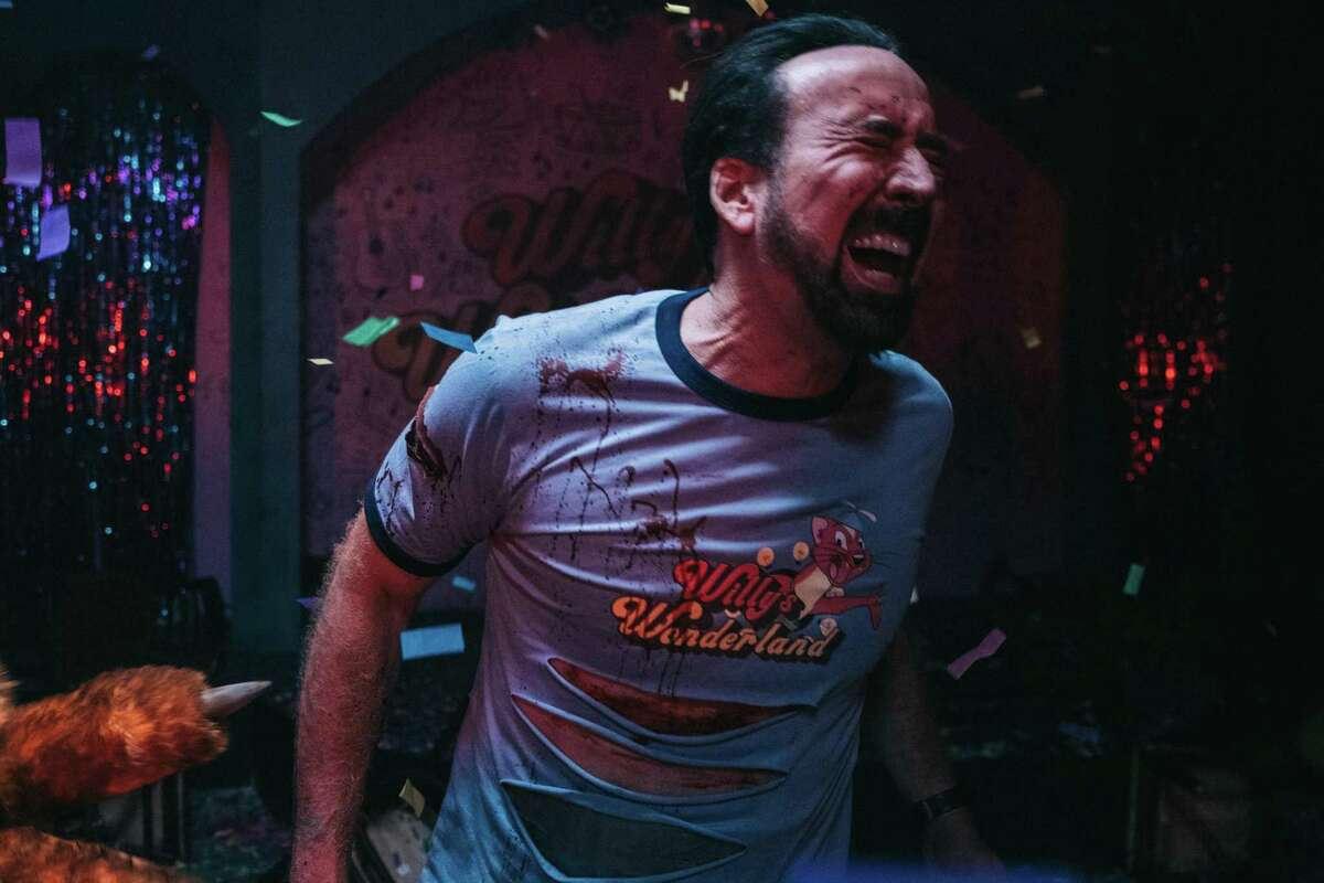 """Nicolas Cage reports for duty in """"Willy's Wonderland."""""""