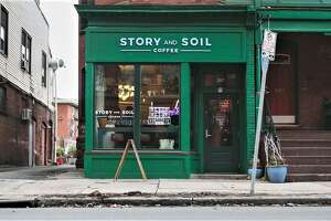 Story and Soil Coffee is located at 387 Capitol Ave. in Hartford. The shop is expanding to the Wesleyan RJ Julia Bookstore at 413 Main St. in Middletown.