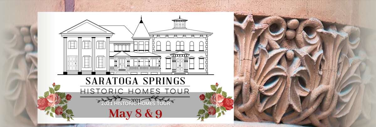 A screenshot of the Saratoga Springs Preservation Foundation's page on the historic homes tour, set to happen virtually in 2021, on May 8 and May 9.