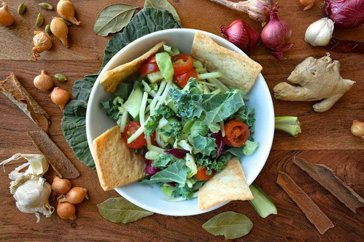 Fattoush salad by Shef Shereen.