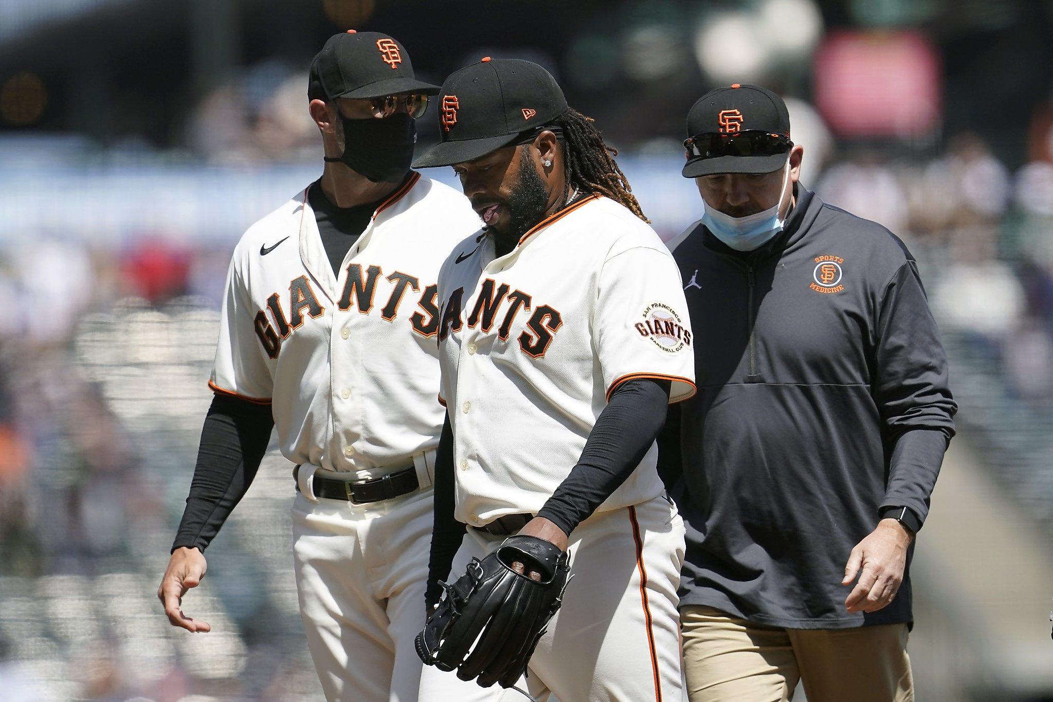 Giants' Johnny Cueto headed to injured list: grade 1 lat strain
