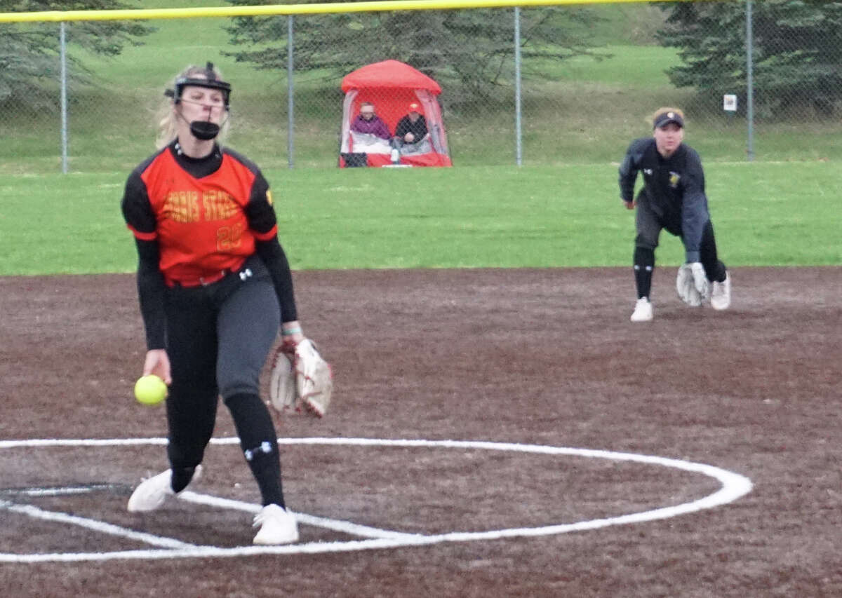The Ferris State softball team dropped its doubleheader with Grand Valley State on Wednesday afternoon.