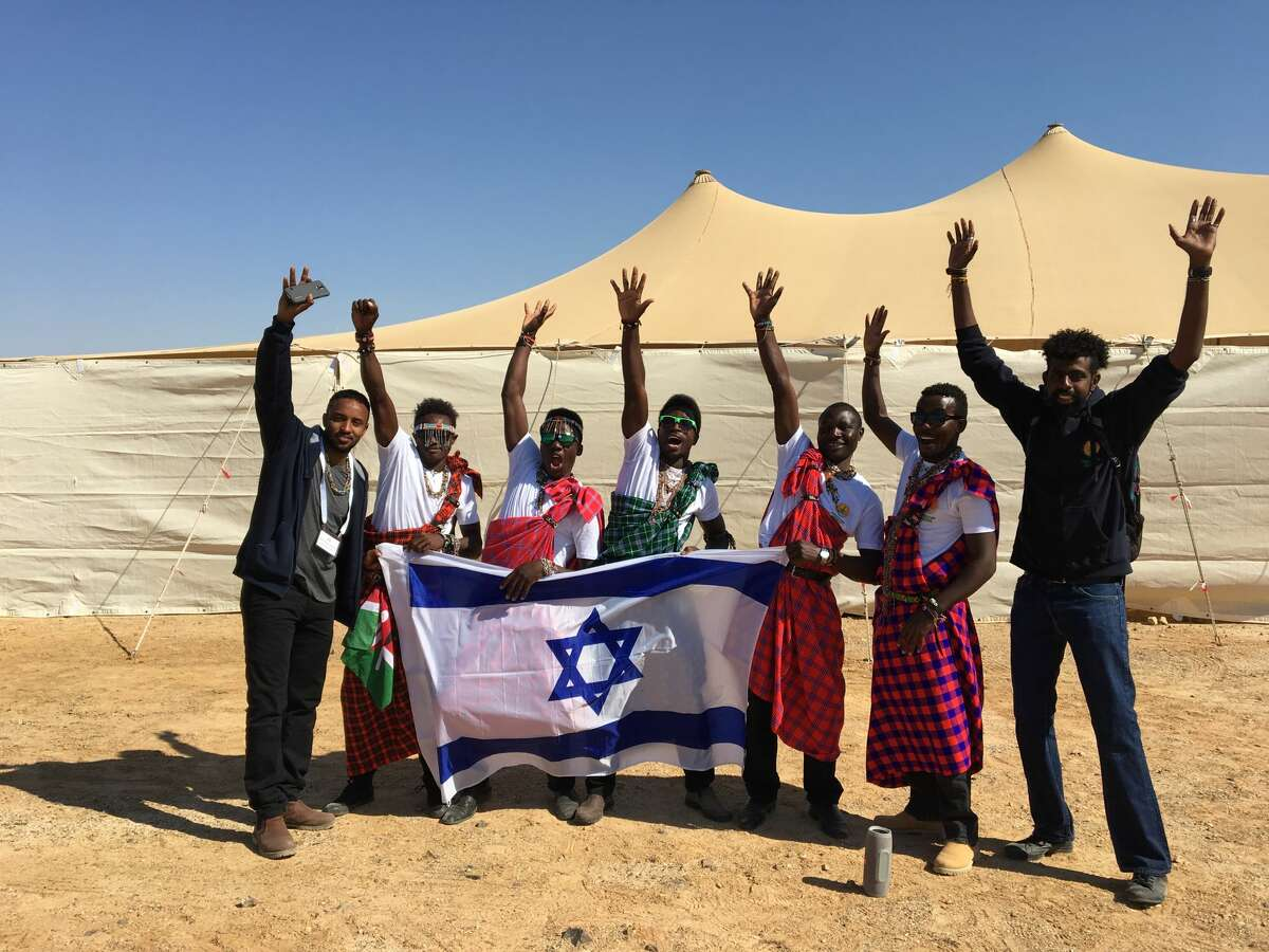 Caption: Farmers from The Gambia and Kenya learn sustainable agriculture practices in Israel's southern Negev Desert. After 12 months, the students return to their respective farms and implement the new ecofriendly AgTech farming practices they learned..