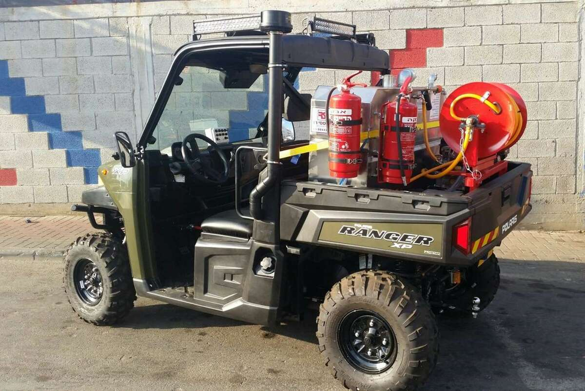 Sunday's Breakfast for Israel raises funds for, among other things, this Rapid Action Fire Vehicle. It's a mini firetruck is designed to deal with Israel's toughest terrain.