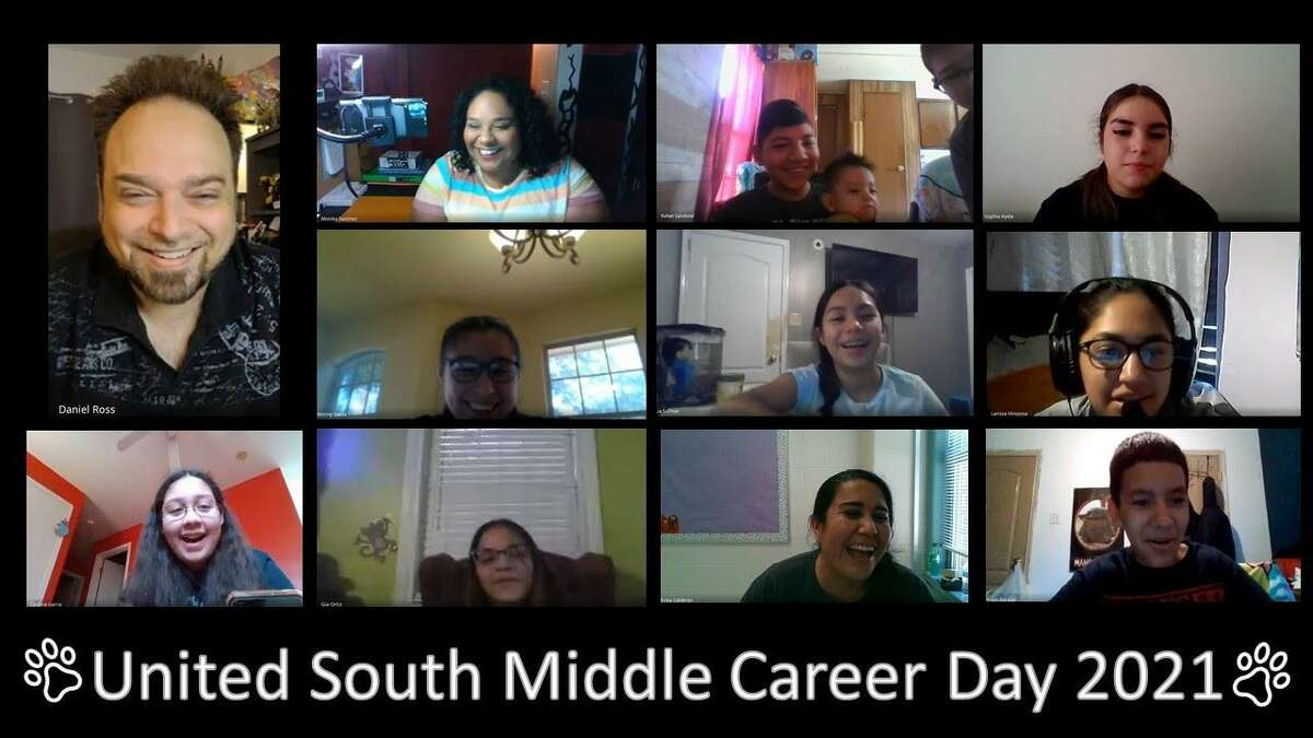 United South recently hosted virtual Career Day, which included the voice of Donald Duck in actor Daniel Ross, top left.
