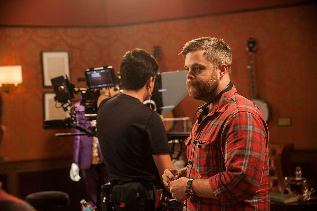 Matthew Pollock on set.