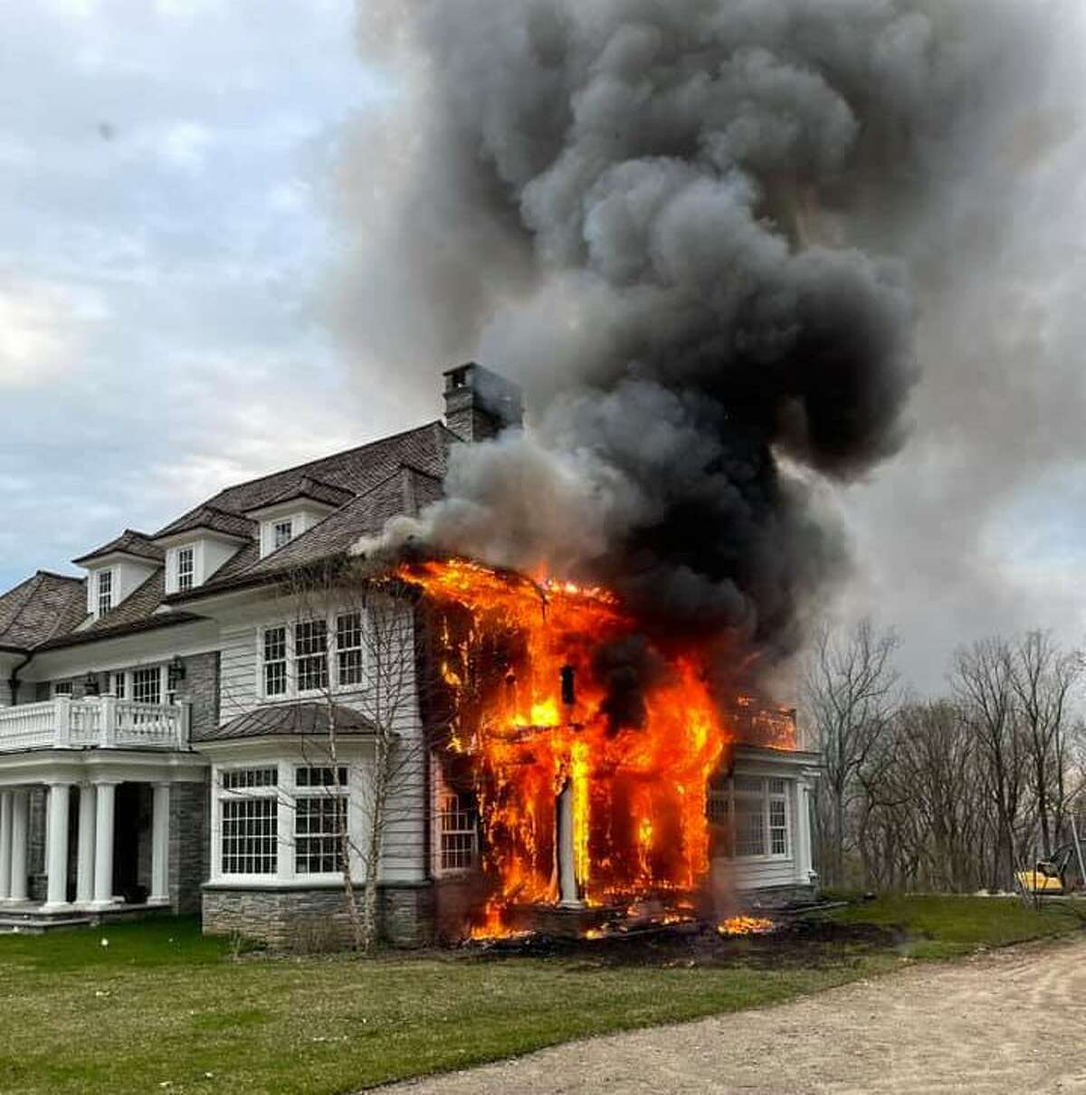 Fire caused extensive damage to a backcountry home Wednesday.