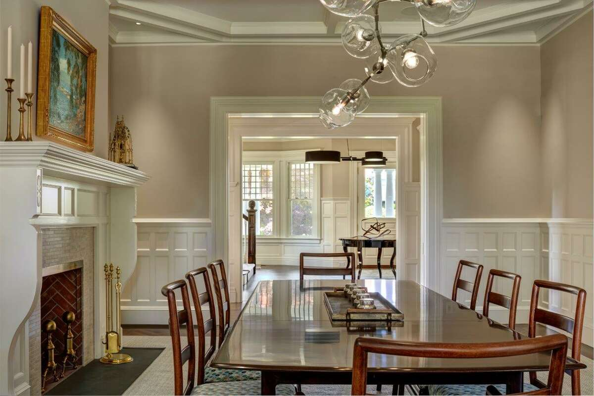 The dining room in the home at 78 Mayo Ave. in the Belle Haven neighborhood of Greenwich, Conn.