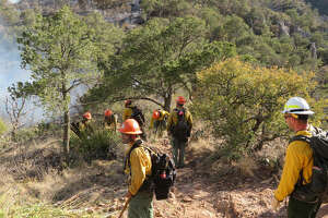 Fire crews are working in some pretty rough terrain fighting the fire in Big Bend National Park.