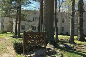 The existing, 50-unit, three-building Parkside Village 1 complex on South Montowese Street in Branford.