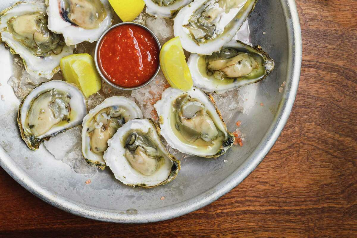 Carlson's Landing features several raw bar selections, including oysters on the half shell.