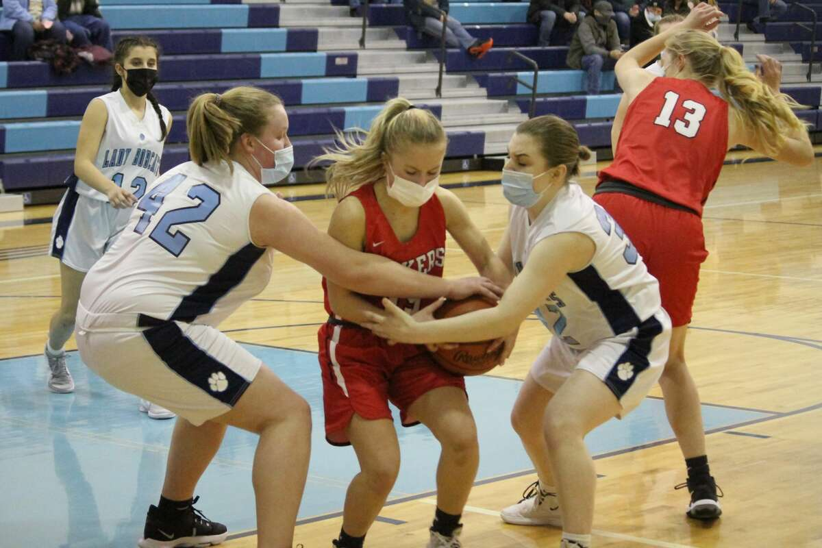 The Bear Lake girls basketball team finished with a 2-9 record this season.