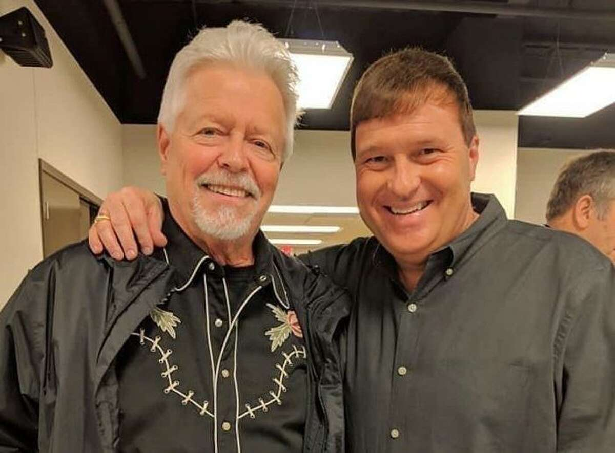 Classic country music performer Tony Booth, left, will perform at the 15th Tony Booth Day scheduled for 7:30 p.m. May 1 at Billy's Hall in Pearland. Tony Pitcox, right, will serve as master of ceremonies.