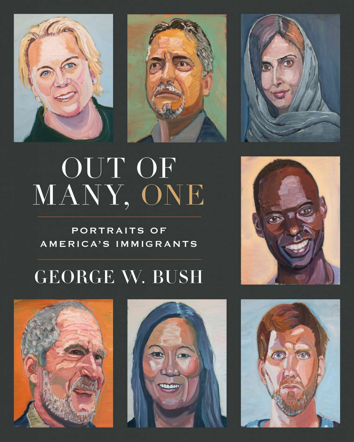 """""""Out of Many, One"""" book jacket cover."""