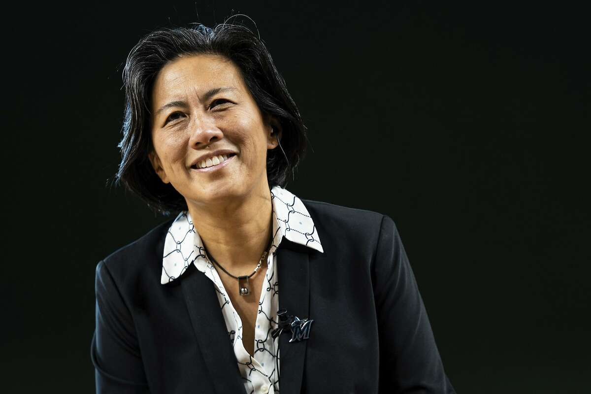 Kim Ng, the first female general manager in Major League Baseball history, and the Marlins host the Giants at 4 p.m. Friday (NBCSBA/104.5, 680).