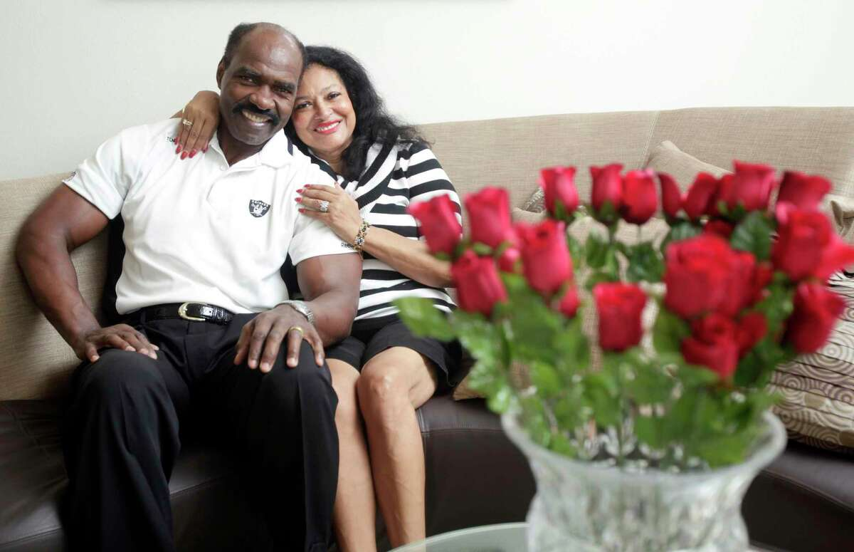 Portrait of Gerald and Myrna Irons, who have been married 42 years at their home Thursday, Oct. 13, 2011, in Spring. Myrna was thinking about becoming a nun until she met Gerald when she was 14. Gerald fell in love with her instantly, and they got married when he was drafted for the NFL. Gerald played 10 years in the NFL for the Oakland Raiders and the Cleveland Browns.