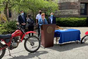 Mayor Kathy Sheehan signed legislation increasing the fees to recover illegal dirt bikes and ATVS seized in the city.