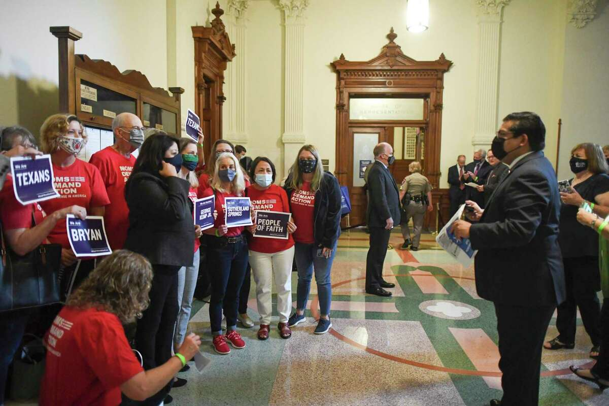 The group Moms Demand Action rally at the Capitol in April to challenge legislation allowing Texans without a handgun license to carry a concealed firearm in public. Politicians should listen.
