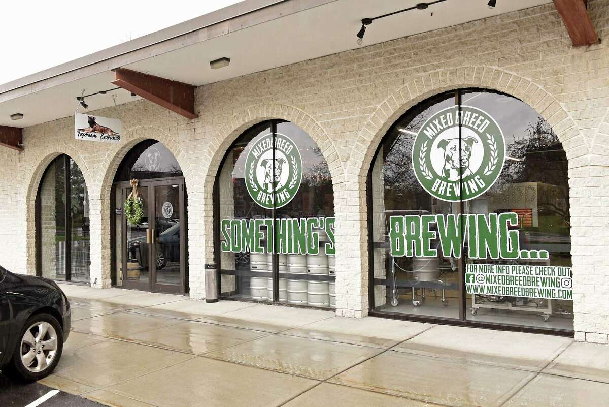 Exterior of Mixed Breed Brewing and Taproom located in the Park Guilderland Plaza on Thursday, April 15, 2021 in Guilderland Center, N.Y.(Lori Van Buren/Times Union)