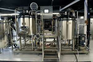 Brewing equipment is seen in Mixed Breed Brewing and Taproom located in the Park Guilderland Plaza on Thursday, April 15, 2021 in Guilderland Center, N.Y.(Lori Van Buren/Times Union)