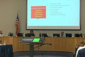 Beaumont ISD trustees hold a monthly meeting on Thursday, April 15, 2021.