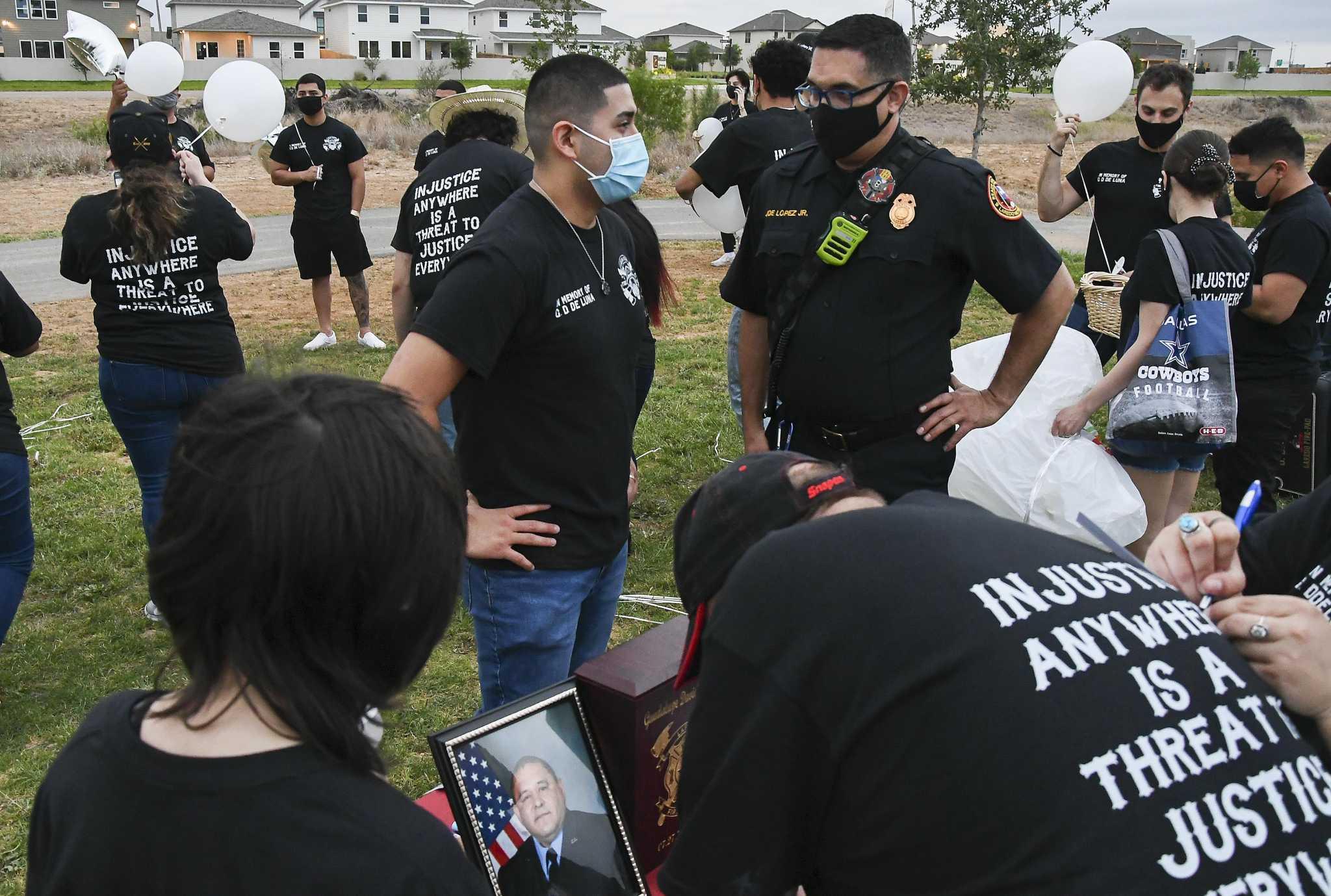 Vigil held for fatally shot Laredo firefighter