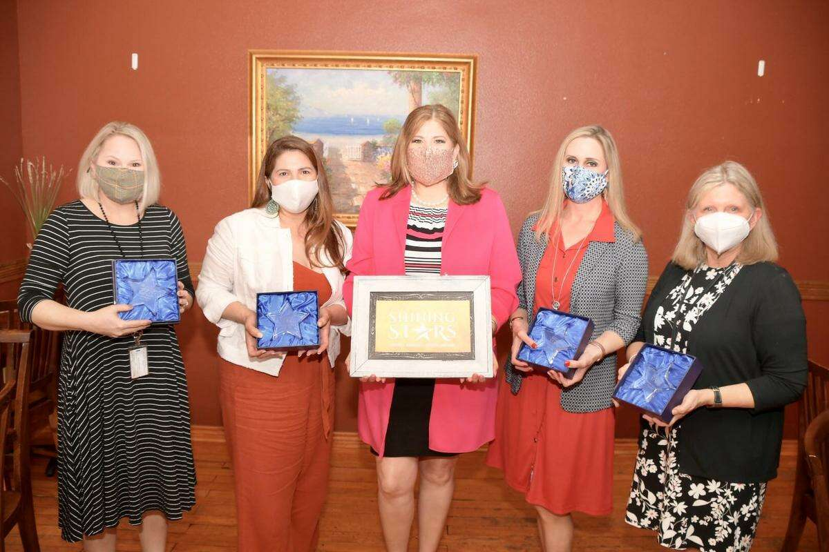 Tomball ISD Superintendent Martha Salazar-Zamora recognized four district educators as Superintendent Shining Stars in April.