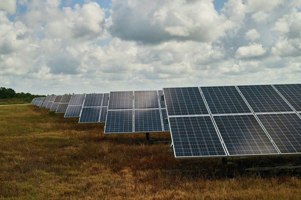 Brazoria County is seeing development of solar-panel farms similar to this one in Babcock Ranch, Fla.
