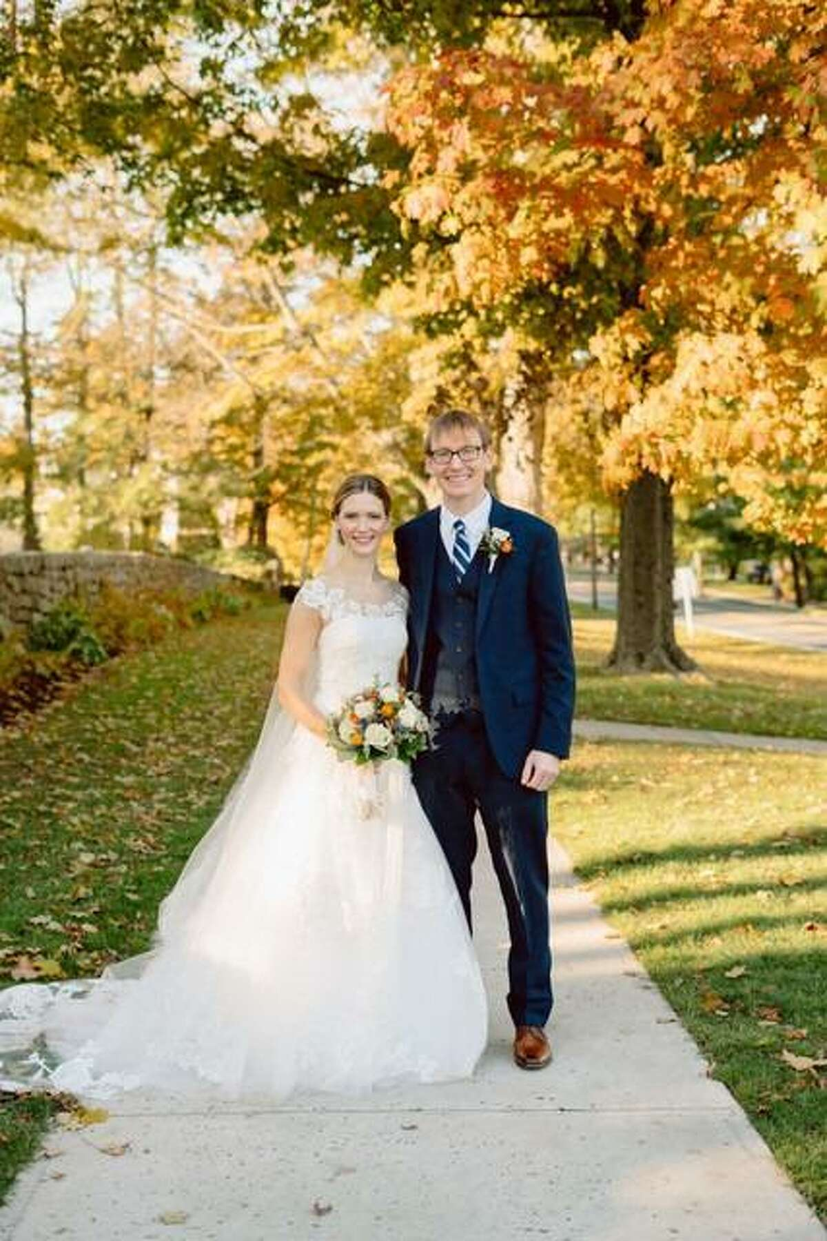 Sarah Hunter Forcheski, the daughter of Joan and Carl Forcheski, of Ridgefield, married Michael James Misencik, the son of Barbara and James Misencik, of Trumbull, on Saturday, Oct. 17, 2020, a perfectly clear and sun-splashed autumn day.