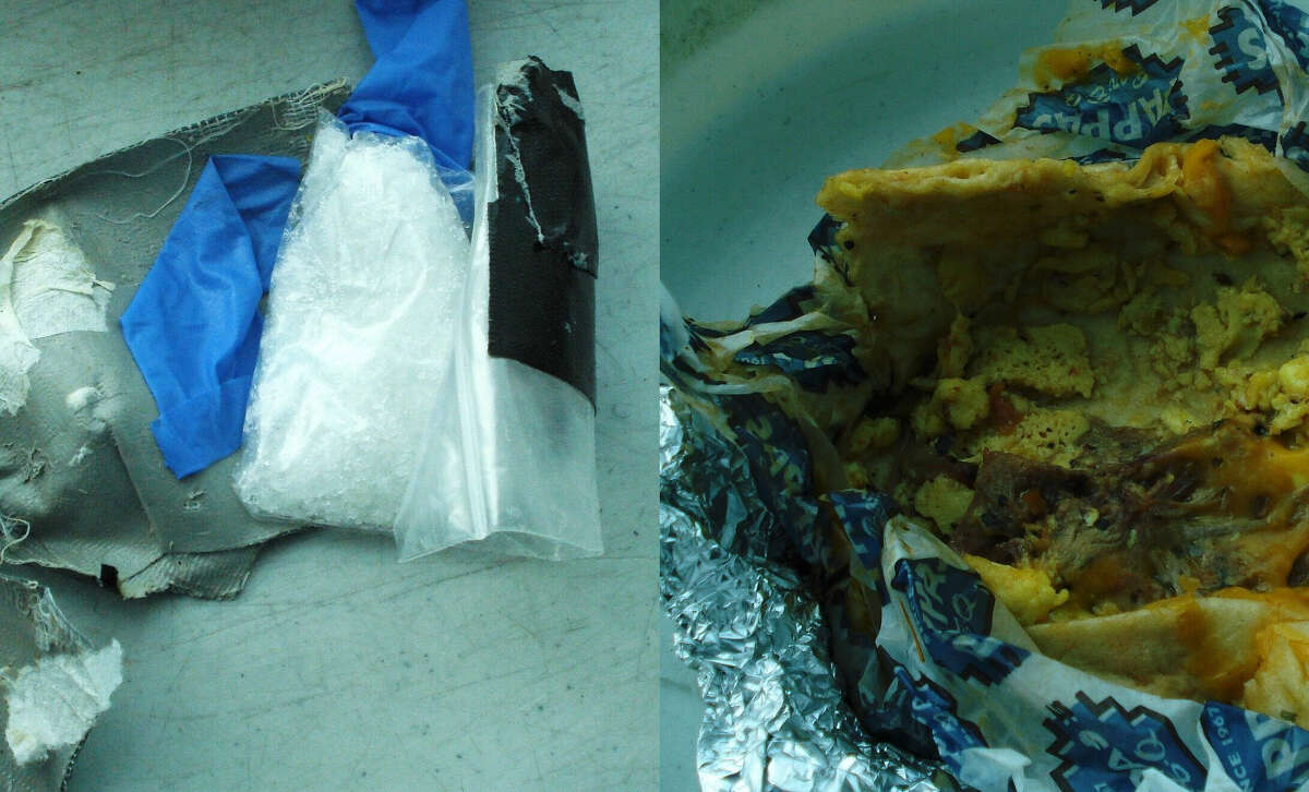 TSA officers recently intercepted a meth-filled breakfast taco in a traveler's belongings during a checkpoint security screening at Houston's Hobby Airport.