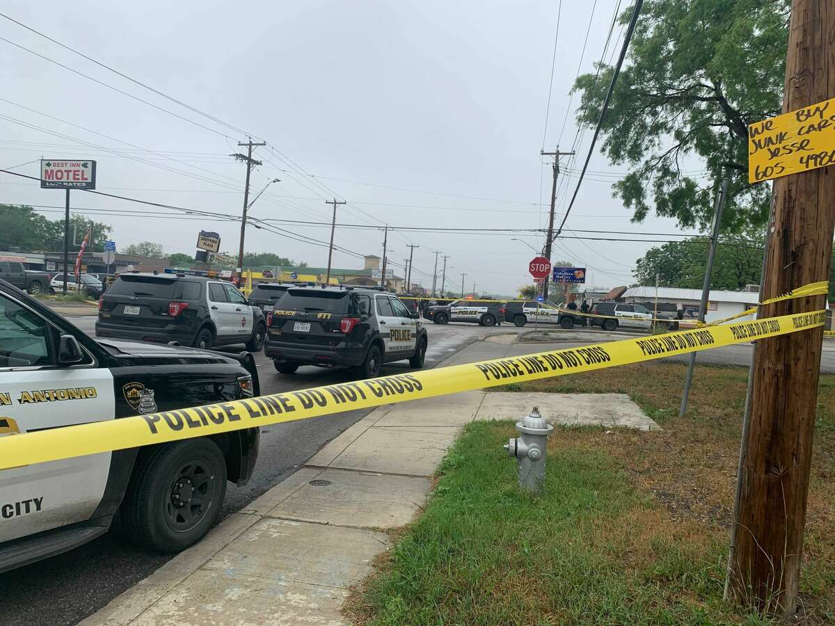 A San Antonio police officer shot and killed two men during a traffic stop off of Pinn Road on the West Side, according to Police Chief William McManus.