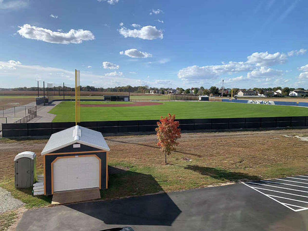 The Father McGivney varsity baseball field will be used Saturday for the first time in game action, as the Griffins will host Wayne City.