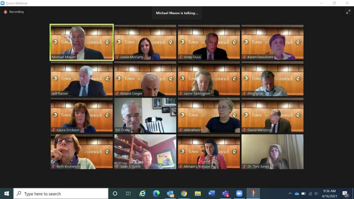 A screenshot of Friday morning's Zoom meeting where the Board of Estimate and Taxation allocated $2.1 million for emergency repairs for North Mianus School, not the full $8.1 million the school district had asked for. More funding is expected later once more information is in about the project.