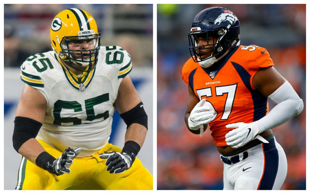 The Texans signed two veteran linemen on Friday, defensive end DeMarcus Walker, right, and guard Lane Taylor.