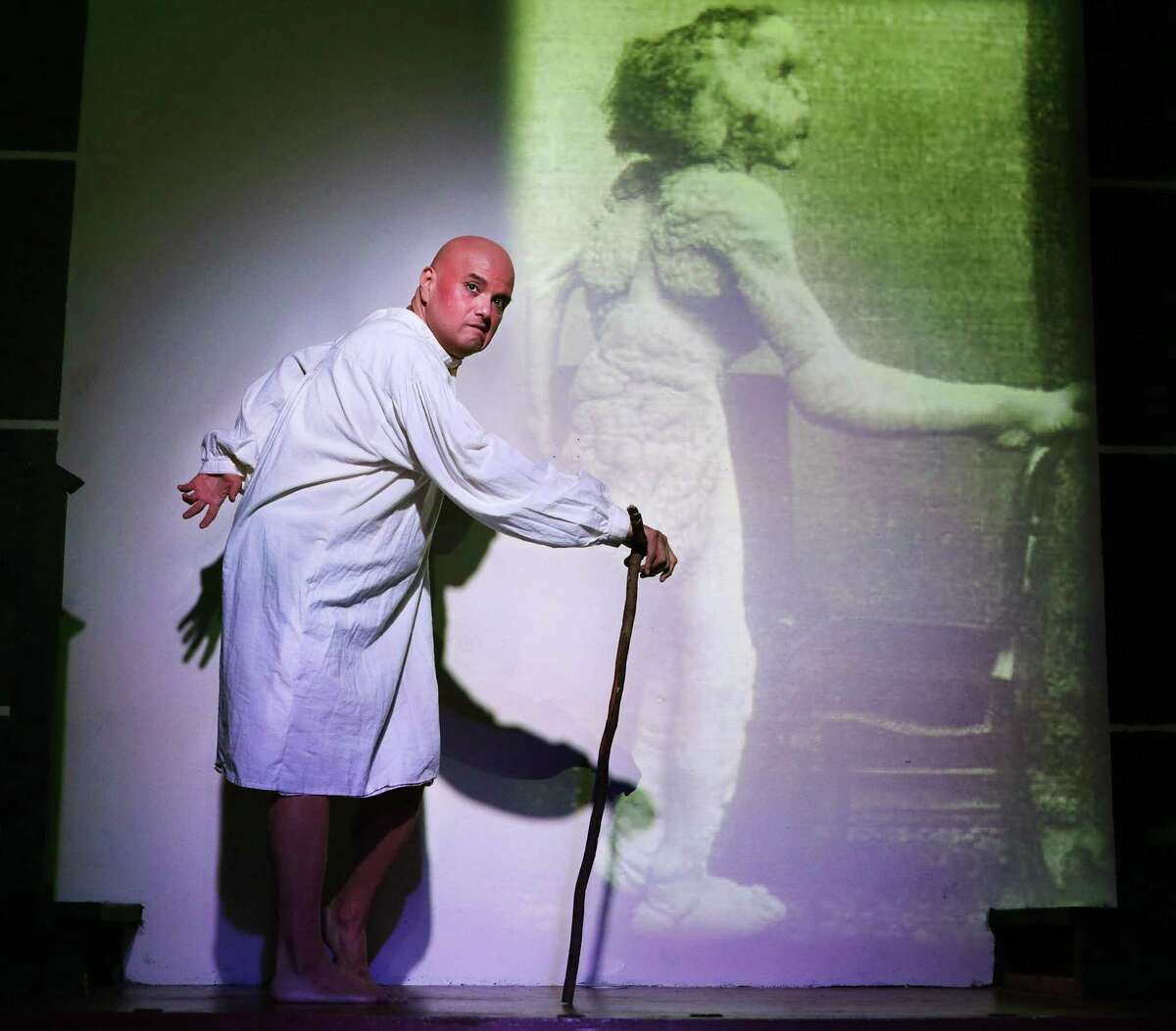 """Greg Hinojosa, seen in a 2018 production of """"The Elephant Man,"""" is remembered as a theatrical mentor and LGBTQ advocate."""