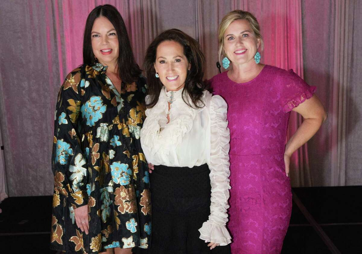 The co-chairs of this year's Spring Branch Education Foundation Style Show fundraiser, from left to right: Tanna Myers, Sheri Gross, Kim Conrad