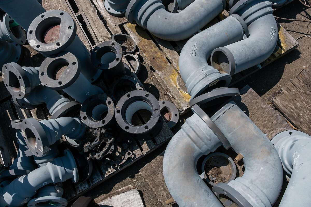 Parts for the San Francisco Public Utilities Commission earthquake-proof pipe supply.